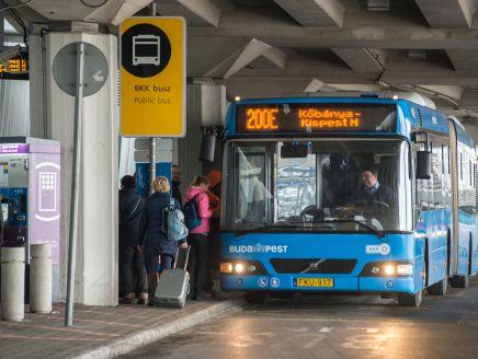 A 200E járat útvonalának módosítása a Liszt Ferenc nemzetközi repülőtér területén